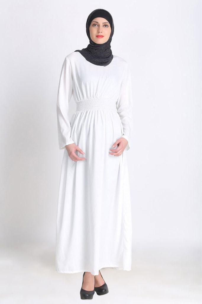 10 Contoh Inspirasi Baju Gamis Warna Putih Yang Cantik - Besok Sukses