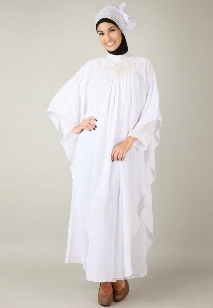 Model Baju Gamis Brokat Kelelawar Hijabfest